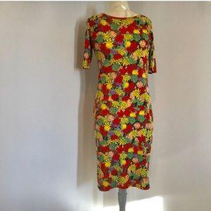 LulaRoe Julia dress in floral print. Size  small